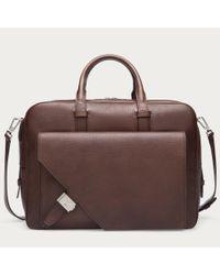 Bally | Brown Gilardi Men ́s Leather Business Bag In Dark Tan for Men | Lyst