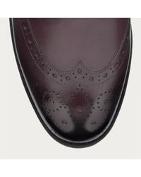 Bally Multicolor Baluke Women ́s Leather Oxford Brogue In Merlot