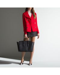 Bally Mini Skirt With Big Buttons Women ́s Leather Mini Skirt In Black