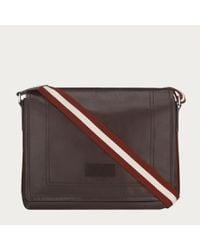 Bally Brown Tepolt Men's Leather Messenger Bag In Chocolate for men