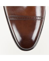 Bally Scardino Men's Leather Monk Shoe In Mid Brown for men
