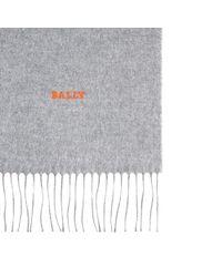 Bally Black Formal Scarf Men ́s Silk Scarf In Grey for men