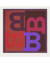 Bally - Purple B Silk Carre Women ́s Silk Scarf In Multired - Lyst
