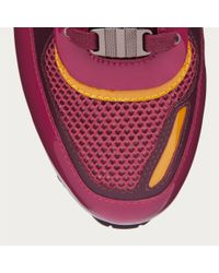 Bally - Pink Asyia Women ́s Fabric Trainer In Dark Red - Lyst