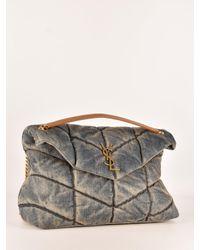Saint Laurent Blue Medium Puffer Bag