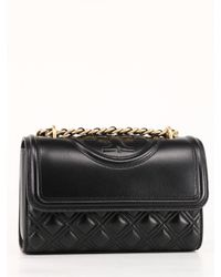 Tory Burch Black Small Convertible Fleming Bag