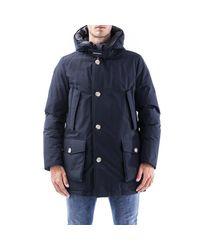 Woolrich Blue Coats for men