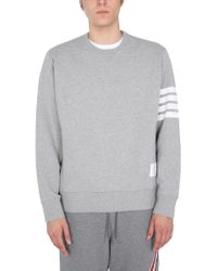 Thom Browne Gray Relaxed Fit Sweatshirt for men
