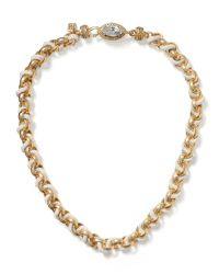 Banana Republic | Metallic Sparkle Chain Necklace | Lyst