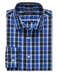 Banana Republic | Blue Grant-fit Non-iron Saturated Check Shirt for Men | Lyst