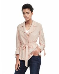 Banana Republic | Pink Belted Jacket Blouse | Lyst