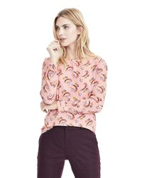 Banana Republic | Multicolor Aubrey Fold Cuff Blouse | Lyst