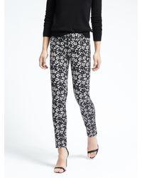 Banana Republic | Black Sloan-fit Floral Print Pant | Lyst