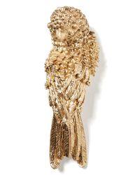 Banana Republic Metallic Bird Brooch