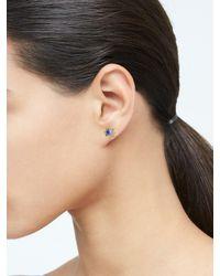 Banana Republic Blue Delicate Pearl & Stone Stud Earrings