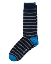 Banana Republic Blue Tate Stripe Sock for men