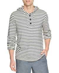 Banana Republic Factory - Blue Terry Stripe Hoodie for Men - Lyst