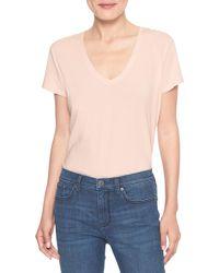 Banana Republic Factory - Pink Timeless V-neck T Shirt - Lyst