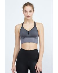 Nike - Black Seamless Bralette - Lyst