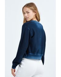 Cotton Citizen - Blue Milan Cropped Crewneck Sweatshirt - Lyst