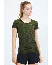 Nike - Green Dri-fit Knit Top Short Sleeve - Lyst