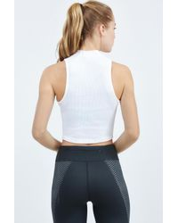Nike - White Dry Tank Crop - Lyst