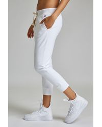 Champion White Tapered Sweatpants