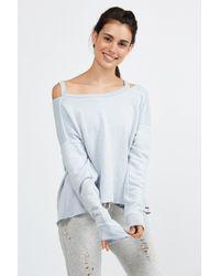 n:PHILANTHROPY Blue Petra Zipper Sweatshirt