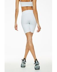 Year Of Ours White Ribbed Biker Short