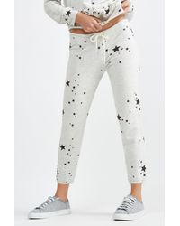 Monrow Multicolor Vintage Sweats With Printed Star Dust