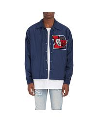 Facetasm - Blue College Appliquéd Coach's Jacket for Men - Lyst