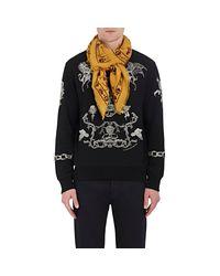 Alexander McQueen - Black Mixed-print Wool for Men - Lyst