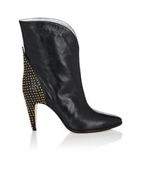 Givenchy - Black Studded-heel Leather Ankle Boots - Lyst