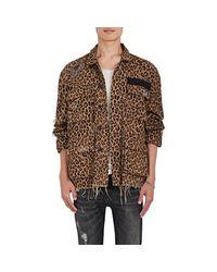 R13 - Brown Abu Shredded Cotton Field Jacket - Lyst