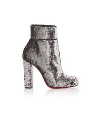 Christian Louboutin | Gray Moulamax Pailette Ankle Boots | Lyst