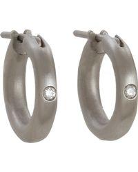 Linda Lee Johnson | Gray Diamond Nony Hoop Earrings | Lyst