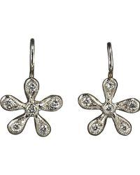 Cathy Waterman | Metallic Pave Diamond Medium Daisy Earrings | Lyst