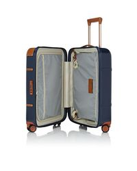 Bric's Blue Bellagio 21 Carry-on Spinner Suitcase for men