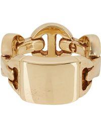 Hoorsenbuhs - Metallic Monogram Dame Ring - Lyst