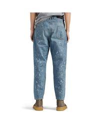 Balmain Blue Destroyed Straight Carrot-leg Jeans for men