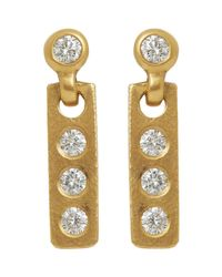 Linda Lee Johnson   Metallic Diamond & Gold Savannah Drop Earrings   Lyst