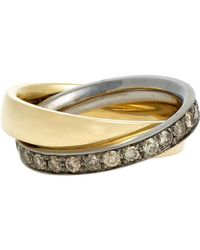 Roberto Marroni | Metallic Double Ring | Lyst