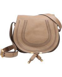 Chloé | Brown Marcie Crossbody Saddle Bag | Lyst