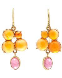 Judy Geib - Metallic Carnelian, Pink Tourmaline & Gold Drop Earrings Size Na - Lyst