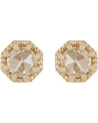 Grace Lee | Metallic Petite Crown Bezel Diamond Studs | Lyst