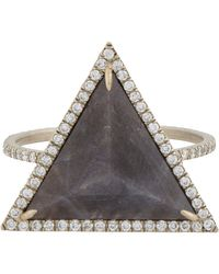 Monique Pean Atelier | Gray Diamond & Sapphire Ring | Lyst