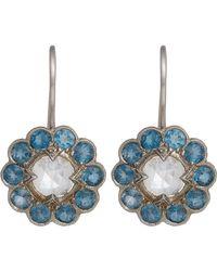 Cathy Waterman | Metallic Floral Drop Earrings | Lyst