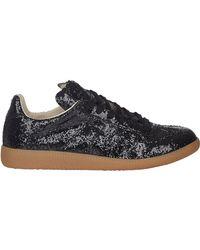 Maison Margiela Black Glitter Sneakers