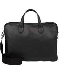 Barneys New York - Black Men's Double-handle Briefcase for Men - Lyst
