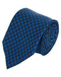 Ovadia And Sons - Blue Houndstooth Silk Neck Tie for Men - Lyst